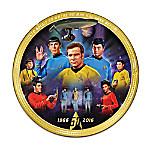 STAR TREK 50th Anniversary Commemorative Collector Plate
