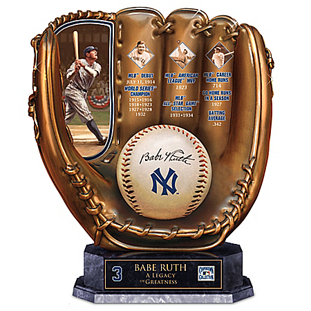 Babe Ruth: A Legacy Of Greatness New York Yankees Glove Sculpture