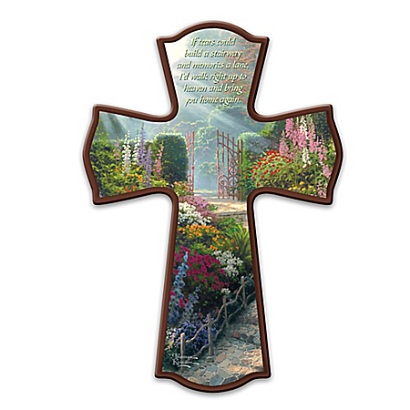 Thomas Kinkade Loving Memories Cross Wall Decor