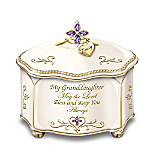 Granddaughter, May The Lord Bless And Keep You Personalized Music Box