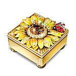 Granddaughter Mini Treasures Personalized 22K Gold-Plated Flower Music Box