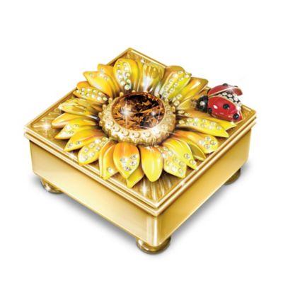 Bradford Exchange Granddaughter Mini Treasures Personalized 22K Gold-Plated Flower