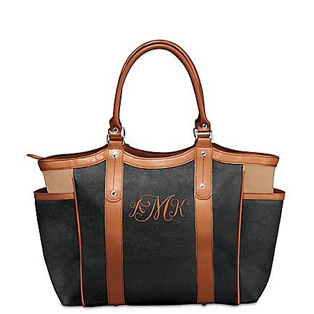 Personally Yours Embroidered Monogram Personalized Handbag