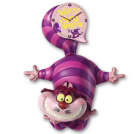 Disney Alice In Wonderland Cheshire Cat Motion Wall Clock