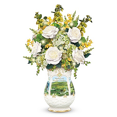 Blessings Of Ireland Illuminated Table Centerpiece