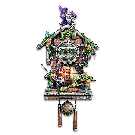 Teenage Mutant Ninja Turtles Illuminated Cuckoo Clock