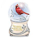 Messenger From Heaven Cardinal Glitter Globe