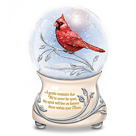 Messenger From Heaven Cardinal Glitter Globe