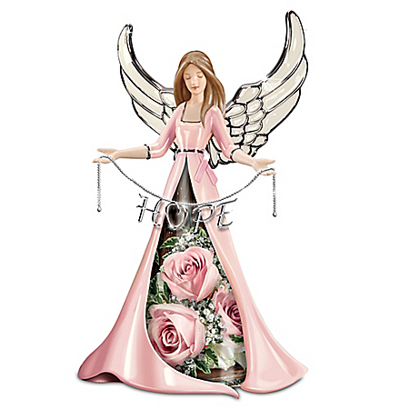 Hope Blossoms Breast Cancer Awareness Angel Table Centerpiece