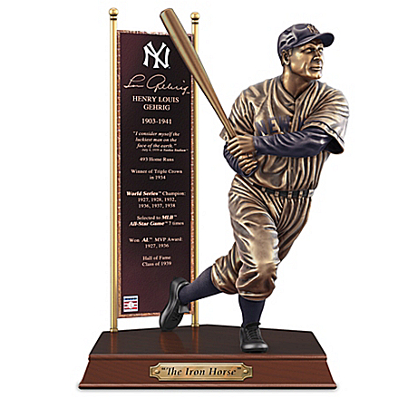 LOU GEHRIG New York Yankees Cold-Cast Bronze Sculpture