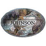 On Majestic Wings Personalized Eagle Welcome Sign
