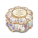 My Granddaughter, I Love you Personalized Porcelain Music Box