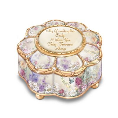 Bradford Exchange My Granddaughter, I Love you Personalized Porcelain