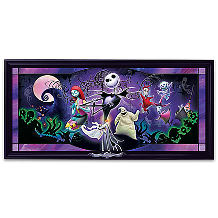 Disney Nightmare Before Christmas Illuminated Stained-Glass Wall Decor