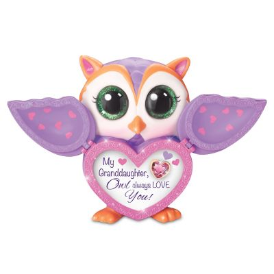 Bradford Exchange Granddaughter, Owl Always Love You Jeweled