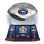 Denver Broncos Super Bowl 50 Championship Levitating Football Sculpture