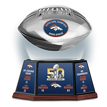 Denver Broncos Super Bowl 50 Championship Levitating Football Sculpture