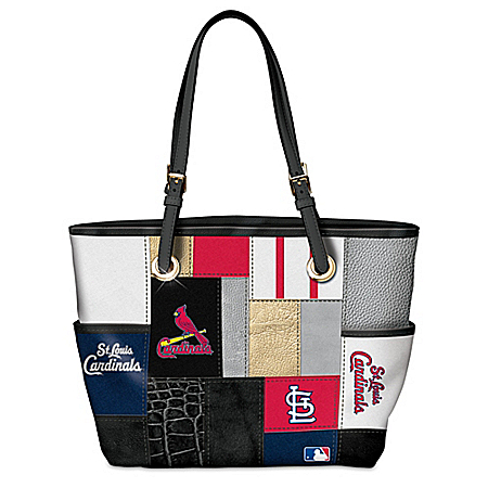 St. Louis Cardinals MLB Patchwork Tote Bag With Team Logos
