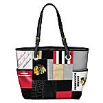 Let's Go Hawks™! Chicago Blackhawks Patchwork Tote Bag