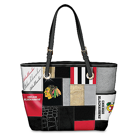 Let's Go Hawks™! Chicago Blackhawks Patchwork Tote Bag