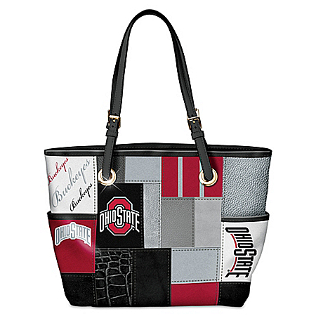 Ohio State University Buckeyes Patchwork Tote Bag
