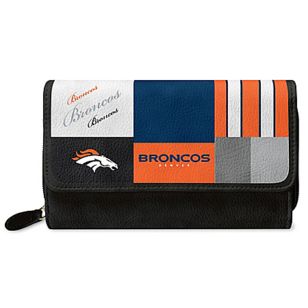 For The Love Of The Game NFL Denver Broncos Patchwork Wallet