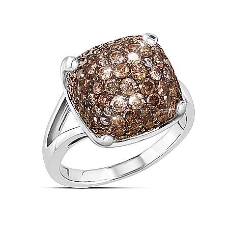 kathy ireland Chocolate Truffle Diamonesk Fashion Ring