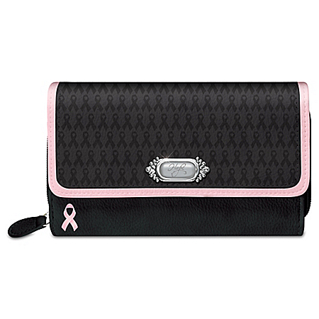Power Of Hope Designer Style Breast Cancer Awareness Wallet