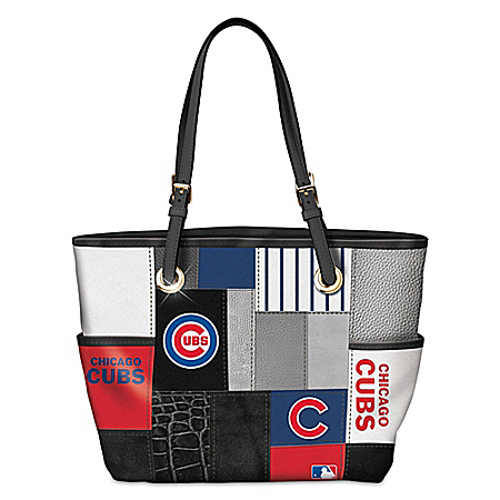 Chicago Cubs MLB Patchwork Tote Bag With Team Logos
