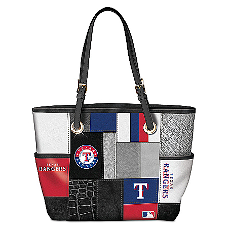 Texas Rangers MLB Women's Patchwork Tote Bag