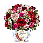 Today, Tomorrow, Always Personalized Illuminated Flower Table Centerpiece