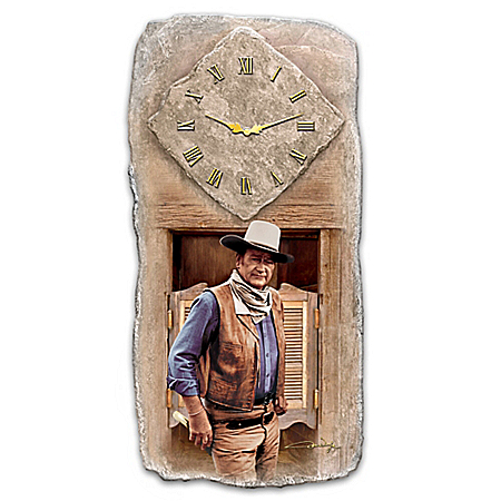 John Wayne All Time Legend Wall Clock