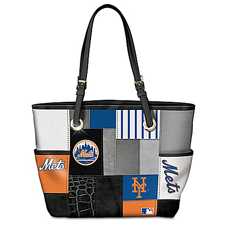 New York Mets Patchwork Tote Bag
