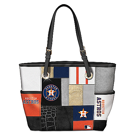 Houston Astros MLB Women's Patchwork Tote Bag