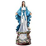 Thomas Kinkade Hail Mary, Full Of Grace Handcrafted Illuminated Sculpture