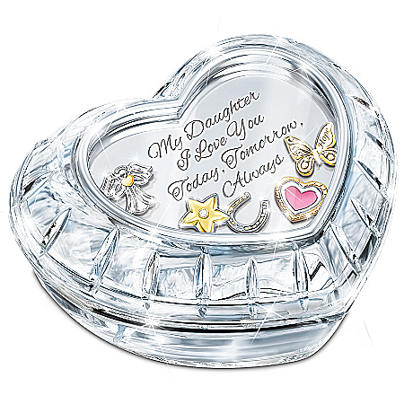 My Charming Daughter Crystal Music Box With Floating Charms