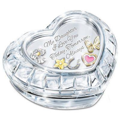 Bradford Exchange My Charming Daughter Crystal With Floating Charms