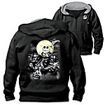 Disney Tim Burton's The Nightmare Before Christmas Men's Easy-Care & Cotton & Knit Blend Hoodie