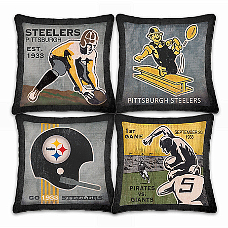 Pittsburgh Steelers Vintage Pillow Set