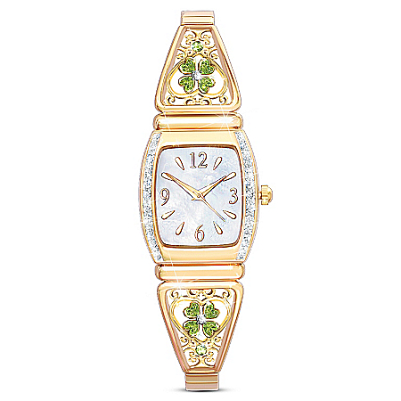 Luck Of The Irish Women's Four-Leaf Clover Watch