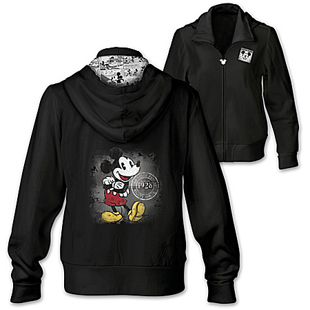 Hot Off The Press Disney Mickey Mouse Women's Cotton Blend Hoodie