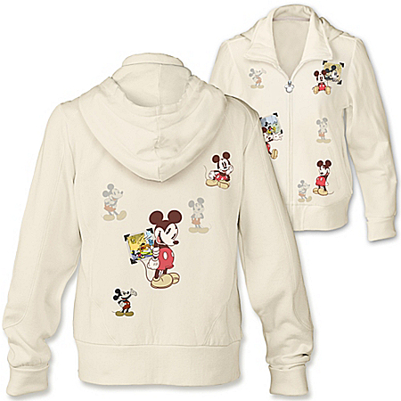 Disney Retro Mickey Mouse Women's Full Zip Hoodie