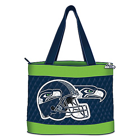 Seattle Seahawks Quilted Tote Bag