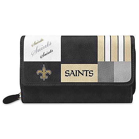 For The Love Of The Game NFL New Orleans Saints Patchwork Wallet