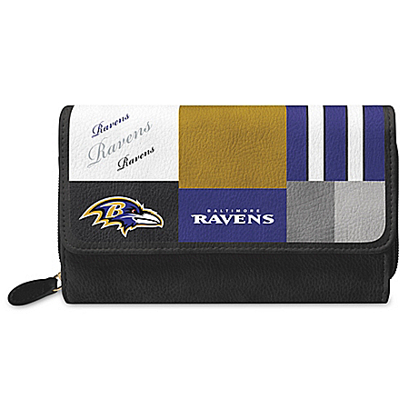 For The Love Of The Game NFL Baltimore Ravens Patchwork Wallet