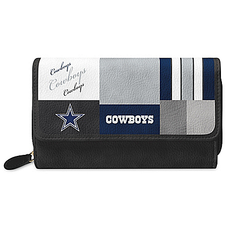 For The Love Of The Game NFL Dallas Cowboys Patchwork Wallet