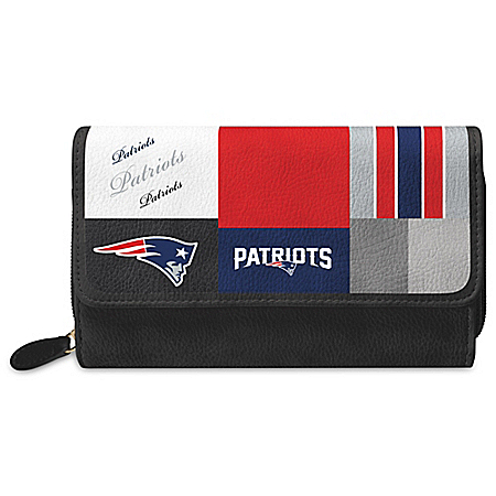 For The Love Of The Game NFL New England Patriots Patchwork Wallet