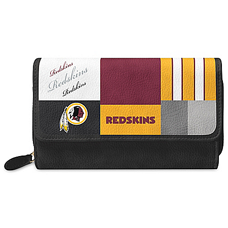 For The Love Of The Game NFL Washington Redskins Patchwork Wallet