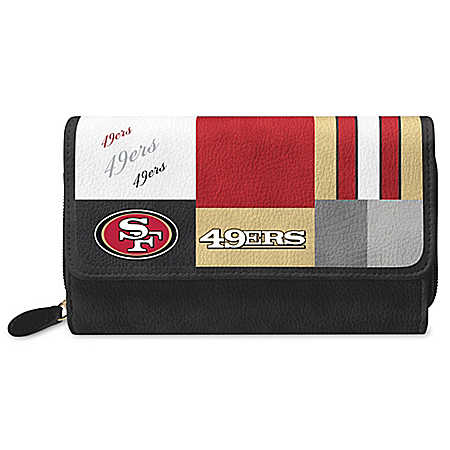 For The Love Of The Game NFL San Francisco 49ers Patchwork Wallet