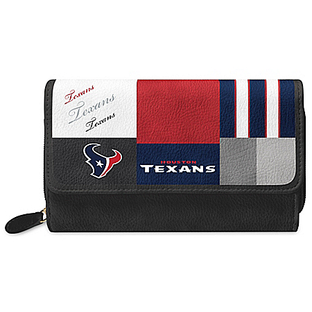 For The Love Of The Game NFL Houston Texans Patchwork Wallet